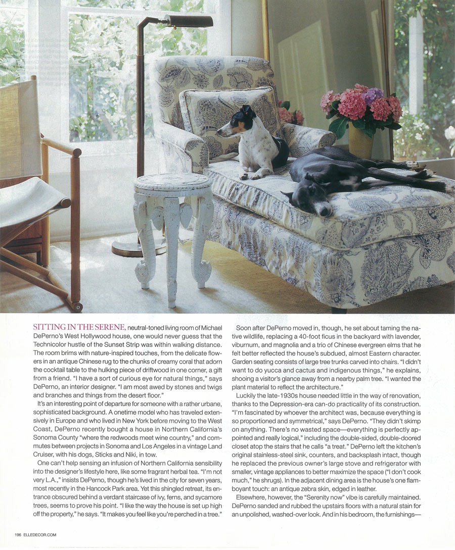 Elle decor may 2004 article for Article decoration